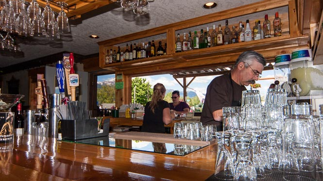 The Saloon will make your favorite mixed drink or enjoy a brew in a frozen mug.