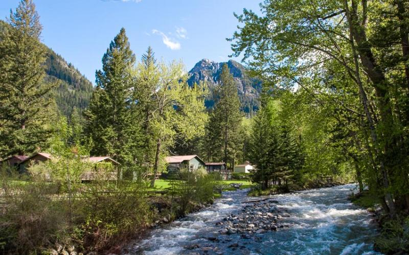 The Resort is at the confluence of the East and West Fork of the Wallowa River